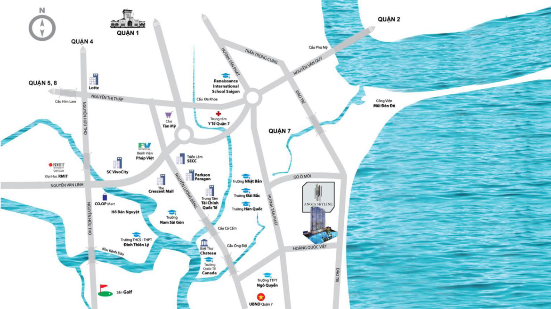 Vị trí địa chỉ dự án căn hộ chung cư An Gia Skyline Quận 7 - Liên hệ SGD BĐS TRUNG KIÊN REAL HOTLINE: 085 222 8998 - 085 222 8998 XEM NHÀ THỰC TẾ