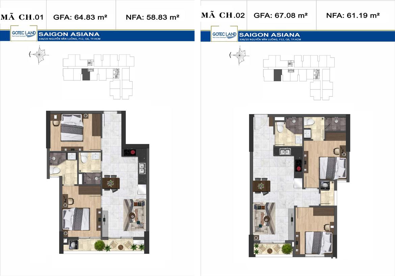 Thiết kế chi tiết căn hộ Sai Gon Asian Nguyễn Văn Luông Quận 6