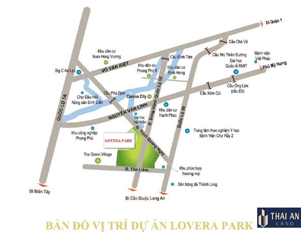 Vị trí dự án Lovera Premier Khang Điền Bình Chánh