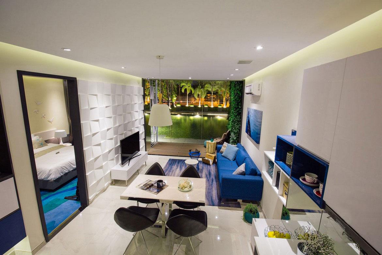 Nhà mẫu căn hộ An Gia Skyline diện tích 72m2 , thiết kế 2 phòng ngủ - 2 vệ sinh