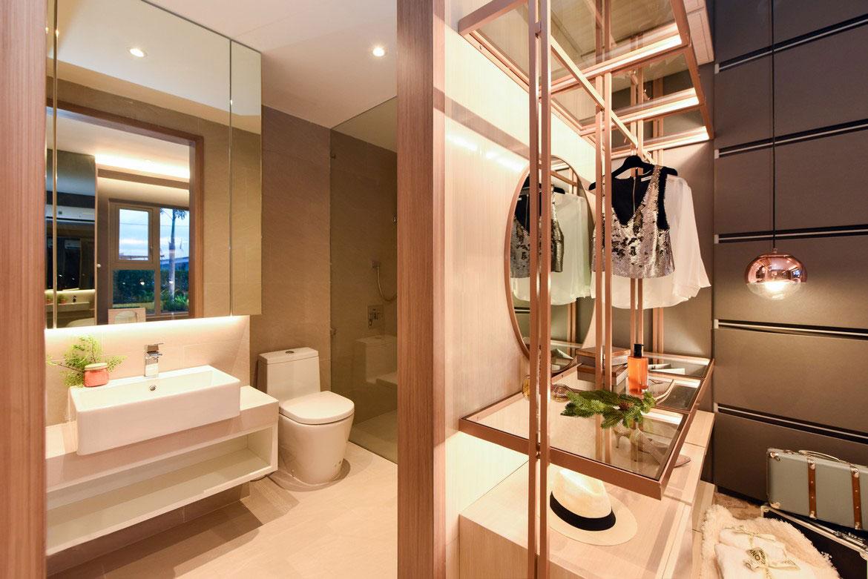 Nhà mẫu căn hộ 2 phòng ngủ River Panorama Quận 7 thiết kế 2 Phòng ngủ - 2 Vệ sinh