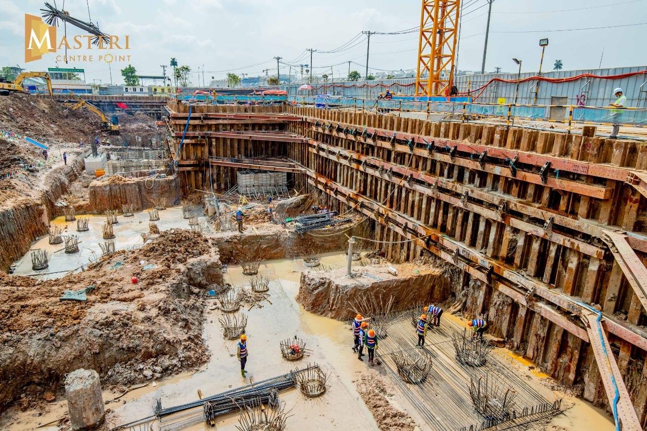 Tiến độ xây dựng của Masteri Centre Point đang thi công đúng kế hoạch. tháng 06/2021